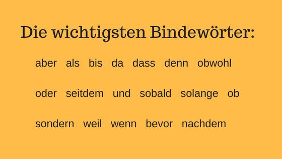 Deutsch Lernen Satze Mit Konjunktionen Youtube 0